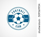 football emblem blue line icon... | Shutterstock .eps vector #509569954
