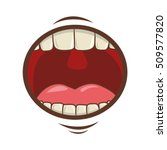 mouth cartoon icon | Shutterstock .eps vector #509577820