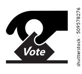 vote icon   sign   hand holding ... | Shutterstock .eps vector #509578276