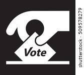 vote icon   sign   hand holding ... | Shutterstock .eps vector #509578279