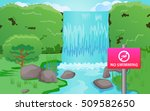 no swimming sign at the... | Shutterstock .eps vector #509582650