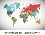 world map countries. world map... | Shutterstock .eps vector #509582944