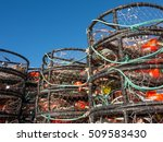 Crab Pots Stacked Beside The...
