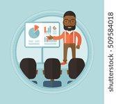 an african businessman pointing ... | Shutterstock .eps vector #509584018