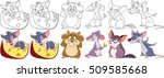 Cartoon Animal Set. Collection...