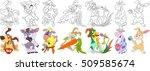 cartoon animal set. collection... | Shutterstock .eps vector #509585674