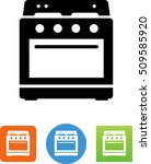 vector kitchen oven icon | Shutterstock .eps vector #509585920