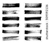 set of black ink vector stains. ... | Shutterstock .eps vector #509592136