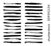 set of black ink vector stains. ... | Shutterstock .eps vector #509592154