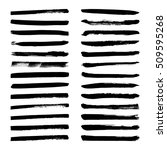 set of black ink vector stains. ... | Shutterstock .eps vector #509595268