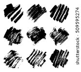 set of black ink vector stains. ... | Shutterstock .eps vector #509595274