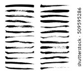 set of black ink vector stains. ... | Shutterstock .eps vector #509595286