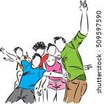 group of happy friends...   Shutterstock .eps vector #509597590