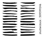 set of black ink vector stains. ... | Shutterstock .eps vector #509599246
