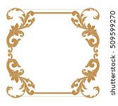 gold vintage baroque element... | Shutterstock .eps vector #509599270