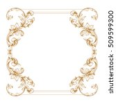 gold vintage baroque element... | Shutterstock .eps vector #509599300