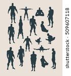the collection of body building ... | Shutterstock .eps vector #509607118