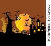 happy halloween night background | Shutterstock .eps vector #509624020