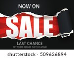 ripped paper of sale banner.... | Shutterstock .eps vector #509626894