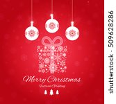 vintage christmas card with... | Shutterstock .eps vector #509628286