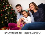 winter time and family love.... | Shutterstock . vector #509628490