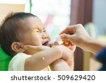 9 months old asian baby refuses ... | Shutterstock . vector #509629420