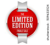 red limited edition badge ... | Shutterstock .eps vector #509633524