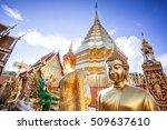 the temple beautiful. | Shutterstock . vector #509637610