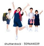 portrait of a group of primary... | Shutterstock . vector #509644039