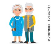 old couple of retirees....   Shutterstock .eps vector #509667454