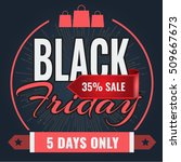 black friday sale inscription... | Shutterstock .eps vector #509667673