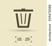 trash can isolated minimal... | Shutterstock .eps vector #509670088