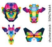 polygon animal pet zoo... | Shutterstock .eps vector #509676664