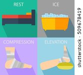 rest  ice  compression  and... | Shutterstock .eps vector #509678419