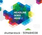 vector of abstract hexagonal... | Shutterstock .eps vector #509684038