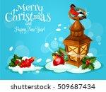 christmas lantern festive... | Shutterstock .eps vector #509687434