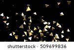abstract gold background. 3d... | Shutterstock . vector #509699836
