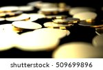 abstract background. coin on... | Shutterstock . vector #509699896
