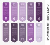 infographic template purple 10... | Shutterstock .eps vector #509713240