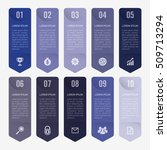 infographic template blue 10... | Shutterstock .eps vector #509713294