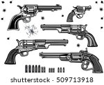 guns  revolver collection set... | Shutterstock .eps vector #509713918