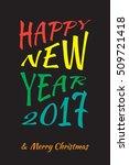 new year design template.... | Shutterstock .eps vector #509721418