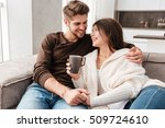 cheerful lovely young couple... | Shutterstock . vector #509724610