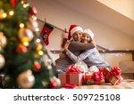 best friends hugging each other. | Shutterstock . vector #509725108