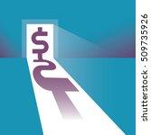 dollar symbol silhouette in the ... | Shutterstock .eps vector #509735926