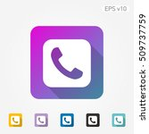 colored icon of phone with...