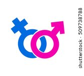 male and female sign vector | Shutterstock .eps vector #509738788