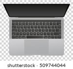 modern glossy laptop isolated... | Shutterstock .eps vector #509744044