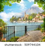 sea view from the balcony with... | Shutterstock . vector #509744104