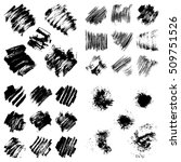 set of black ink vector stains. ... | Shutterstock .eps vector #509751526